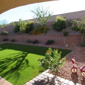 Custom backyard landscaping design and installation
